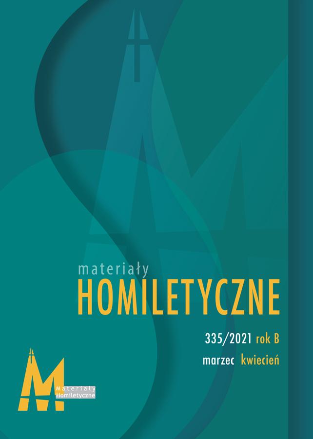 Materiały Homiletyczne 335, marzec-kwiecień, rok B